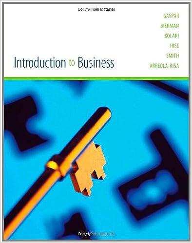 Introduction to business julian gaspar leonard bierman james introduction to business 1st edition fandeluxe Gallery