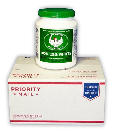 1 Half Gallon Bottle Of Liquid Egg Whites Priority Mail New Lower - Time Priority International Mail