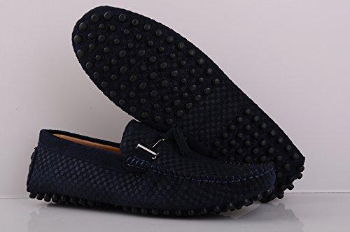 Gå Tur Mens Mockasin Loafers Tillfällig Mocka Driv Skor Komfort Slip-on Tofs Dagdrivare A-mörkblå