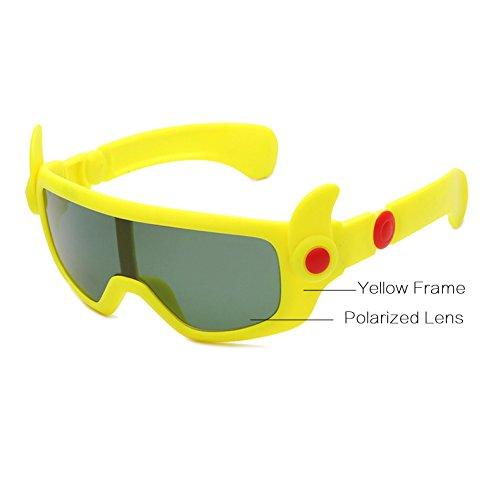 AT1085 de Nuevos Ni o Naranja Gafas Sol de Beb¨¦ Gafas a Amarillo Ni de Sol os Flexibles os Animados de Dibujos Dise Ni Sol o Ni Pynxn los polarizadas Gafas de fqxgdRR