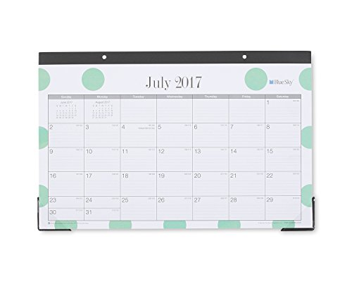 "Blue Sky 2017-2018 Academic Year Monthly Desk Pad Calendar, 17"" x 11"", Penelope"