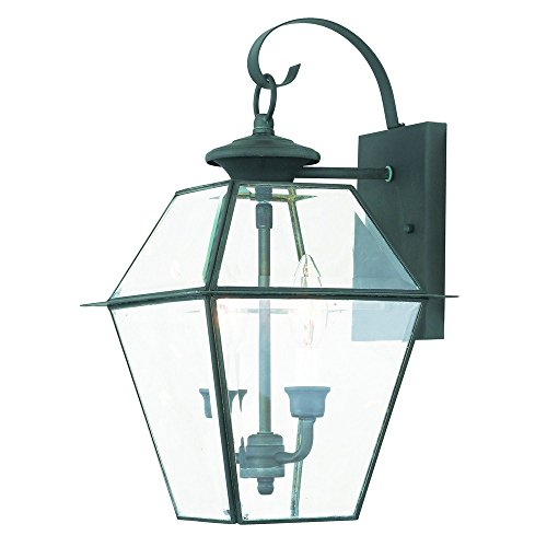 Livex Lighting 2281-61 Westover 2 Outdoor Wall Lantern, Charcoal Review