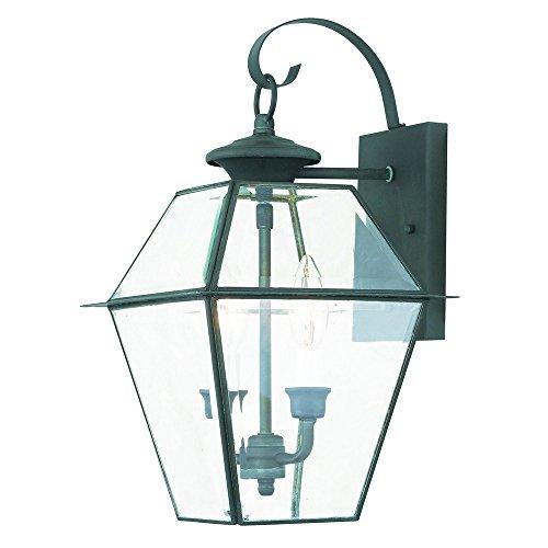 Livex Lighting 2281-61 Westover 2 Outdoor Wall Lantern, Charcoal