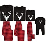 PatPat Deer Christmas Matching Family Pajamas Festival PJ Outfits Clothes Set