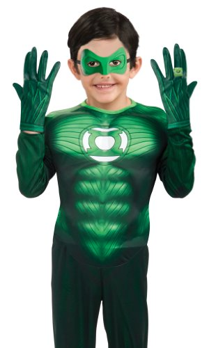 Green Lantern Child's Gloves Costume Accessory (Green Lantern Womens Costume)