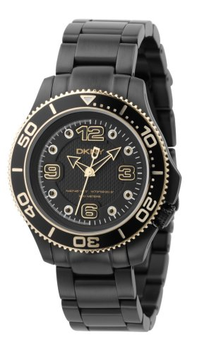 DKNY Women's NY4406 Black Ion-Plated Stainless Steel Watch