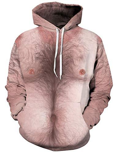 À Longues Des Capuche Poches Hooded Sweat Unisexe Hair Alisister Chest Manches Avec Hoodie 3d Cool Sweatshirts x8RYqXB