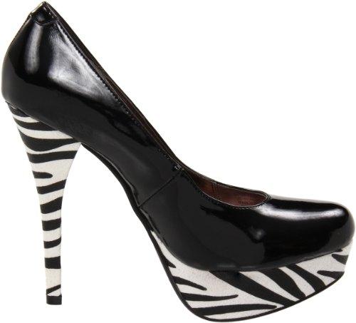 Luichiny Womens Wisp Per Platform Pump Black/Zebra qzYU9uVH