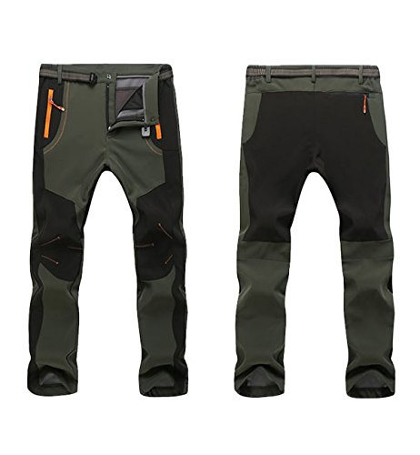 Alleza Softshell Pantalon Pour Automne Imperméable Plein Coupe De En Randonnée Vert Homme Air vent Hiver Polaire rrXgxw1