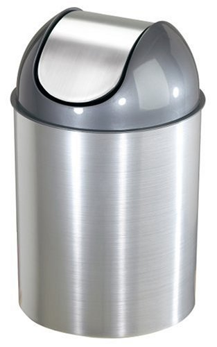 Umbra Mezzo 2.5-Gallon Swing-Top Waste Can, Nickel (Trash Can Swing Lid compare prices)