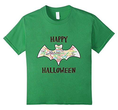 Kids Happy Halloween Bat Word Cloud 4 (Cemetery Angel Costumes)