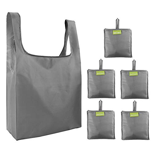 Folding Shopper - Folding-Reusable-Grocery-Bags-Shopping-bag with Pocket Folded Groceries Compact Bags for Shopper Gifts Travel Washable Bulk
