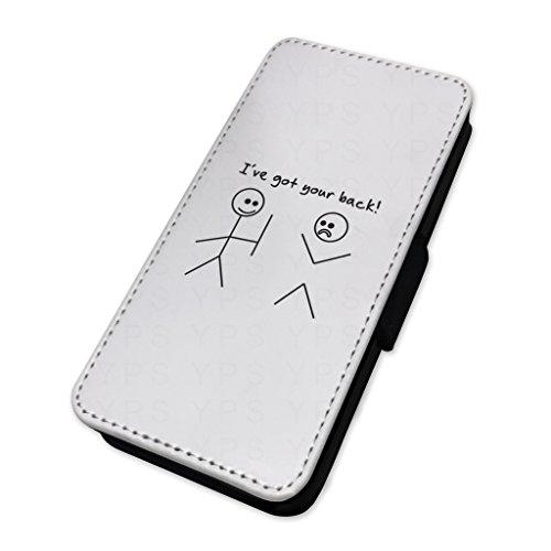I ve got your Back–Bastone uomo divertente scherzo–Flip cover in pelle cover Apple Iphone 5/5s/SE