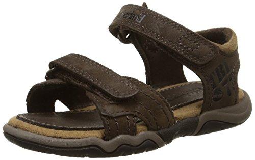 Timberland Jungen Oak Bluffs Leather 2strap Sandale Braun (Dark Brown)