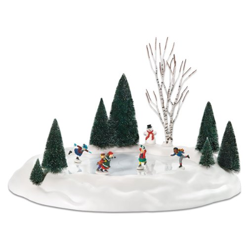 department 56 animated skating pond - Christmas Village Decorations
