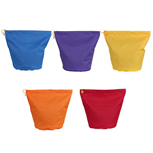Blusea 5pcs/Set 5 Gallon Filter Bag Bubble Bag Herbal Ice Essence Extractor Kit Set of 5pcs Micron Bag Drawstring Bags Extraction Bags with Pressing Screen and Carrying Bag ()