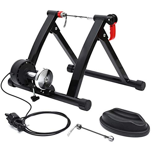 KingSo Bike Trainer Stand Steel Bicycle Exercise Magnetic Stand with Noise Reduction Wheel and Gravity Wheel