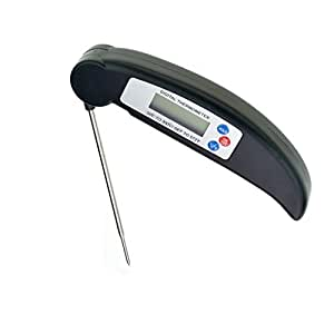 Meat Thermometer - Yookat Instant Read Meat Thermometer with Collapsible Internal Probe for Barbecue, Indoor and Outdoor Using