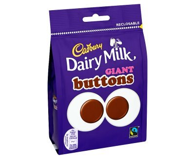 Cadbury Dairy Milk Giant Buttons Chocolate Bag, 119 g