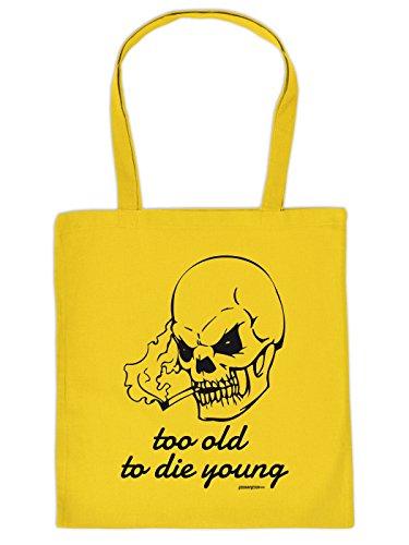 Ausgezeichnete Tasche aus Baumwolle - too OLD to die YOUNG ! von Goodman Design nur für dich!