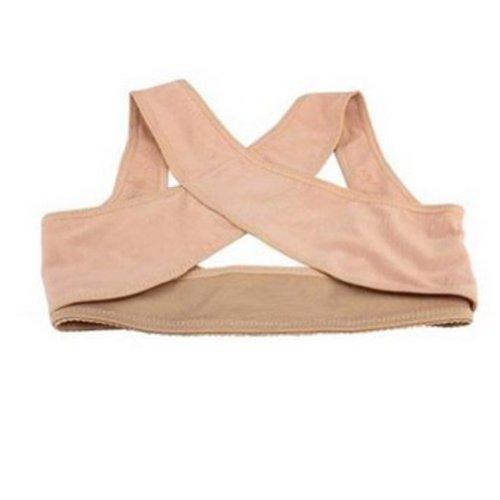 Lady Chest Support Belt Straps Bands Posture Corrector Back Support Brace Body Sculpting Shoulder Vest for Women X Type(L)