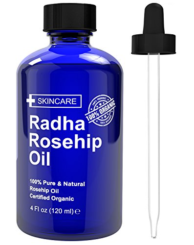 Radha Beauty Rosehip Oil 4 oz – 100% Pure Cold Pressed Certified Organic