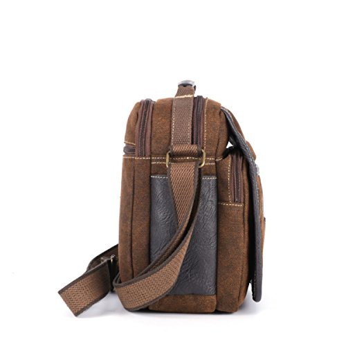 Retro Bag Bag New Bag Casual Men's Fashion Canvas Brown U6rZqU