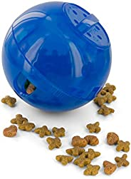 PetSafe SlimCat Interactive Toy and Food Dispenser, Blue