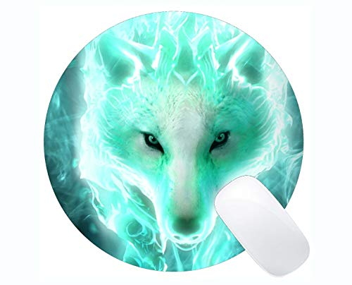 (Round Gaming Mouse pad,Spirit Wolf Mouse Pads for Computers Laptop 230mm x 230mm x)