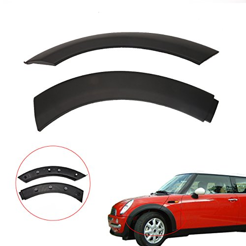 2004 Bmw Mini (Kawayee One Set Of Mini Cooper Wheel Arch Trim Driver Left Side For Hood Fit For 2002-2008 BMW Mini One/One D/Cooper/Cooper S R50 R52 R53(Black) 51131505867 & 51131505865)