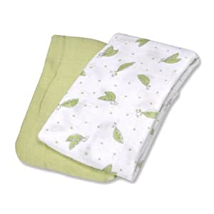 Summer Infant SwaddleMe Muslin Blanket, Sweat Pea, 2 Count (Discontinued by Manufacturer)