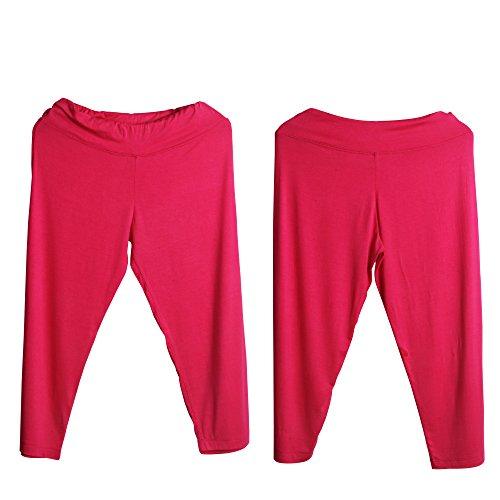 Sidiou Group Capri pedorreros para mujeres, Pantalón /polainas de Yoga ,carrera & entrenamiento , Pantalón para danza y la práctica de la aptitud Rojo