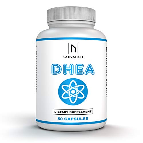 Dhea 25mg 50 Capsules | Restoration of Youthful Energy | Boosting Lean Muscle Mass and Building Capability | Promoting Healthy Aging in Men and Women | Non GMO ()