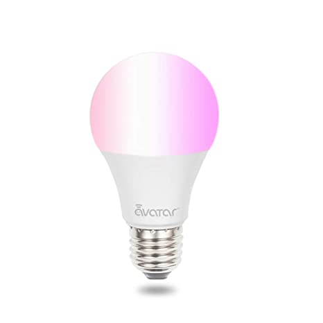 Bombilla Inteligente Wifi LED, Avatar Controls E27 7W RGBW Lámparas Color Regulable Control Remoto Compatible