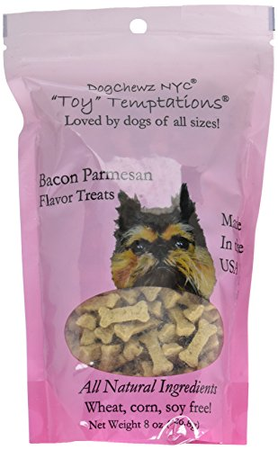 Dogchewz Nyc Toy Temptations All Natural Dog Treats, 8-Ounce, Bacon Parmesan For Sale
