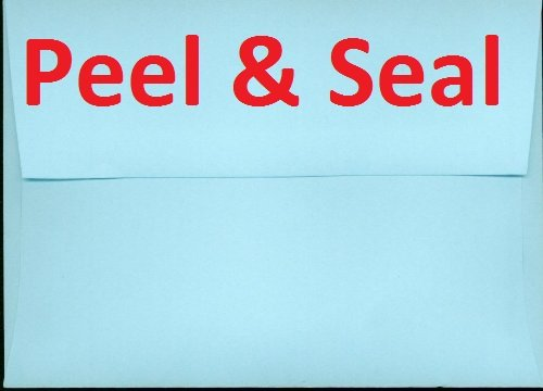 A2 100 Blue Peel and Seal 4 3 8 x 5 3 4 4×5 Wedding Shower Announcement Photo Envelopes