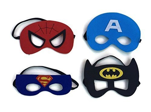 RioRand Comics Cartoon Dress Up Costumes 5 Satin Capes with Felt Masks