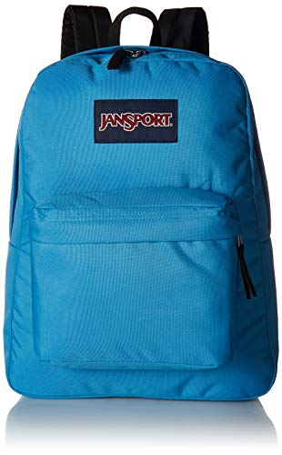 JANSPORT Superbreak Backpack - Lightweight School Pack, Coastal Blue
