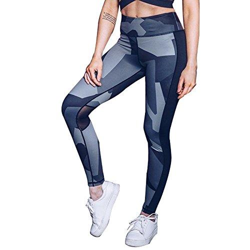 Xuanytp Yogahosen Sport-Strumpfhosen Damen Fitness Und Knöchelhose Damen-Nähgaze