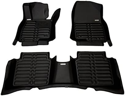 Waterproof Largest Coverage All Weather The Ultimate Winter Mats TuxMat Custom Car Floor Mats for Mazda 6 2014-2019 Models/- Laser Measured Full Set - Black Also Look Great in the Summer./The Best/Mazda 6 Accessory.