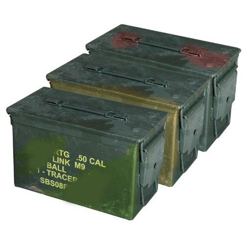 Amazon.com: M2 A1 50 Cal Acero munición latas (3 unidades ...