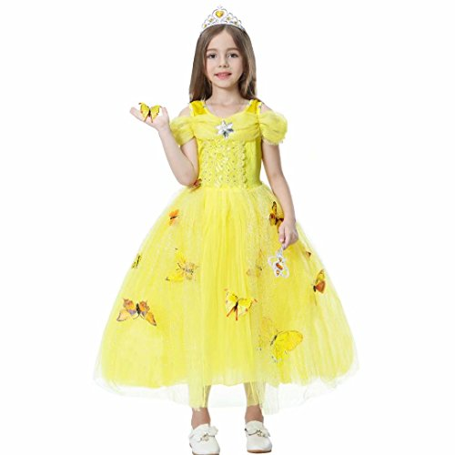 Princess Belle Off Shoulder Layered Costume Dress for Little -