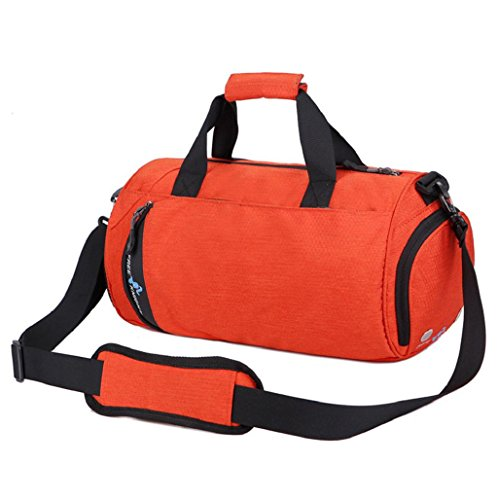 mochilas hombre Sannysis Bolso Deportivo Gimnasio Bolsa portátil de viaje (Armada) Naranja