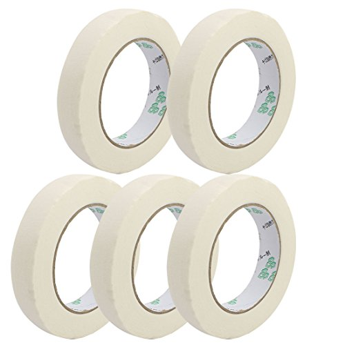 uxcell 5pcs 20mm Width Adhesive Paper Painting Writing Decoration Tape White 50M Length by uxcell