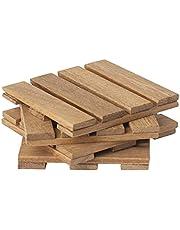 Wooden Coaster 4 pieces - Arrow wood - Mor35 - 2725469237665