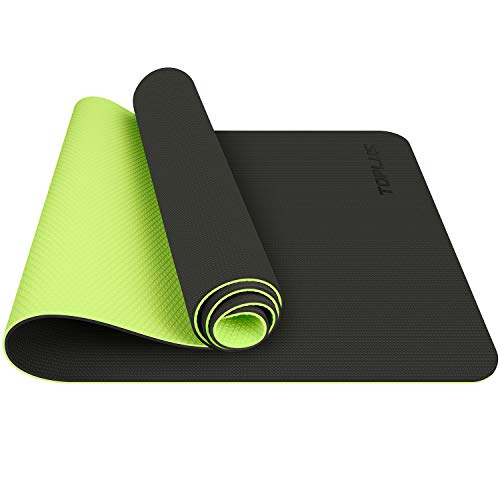TOPLUS Yoga Mat, Upgraded Non-Slip Texture 1/4 inch Pro Yoga Mat TPE Eco Friendly Exercise & Workout Mat with Carrying Strap - for Yoga, Pilates and Floor Exercises