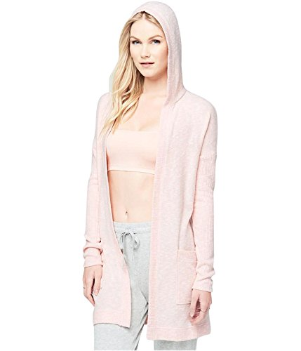 Aeropostale Womens Smooth & Hood Cardigan Sweater Pink L - Juniors