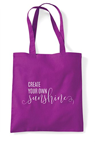 Your Sunshine Statement Bag Own Create Magenta Tote Shopper vqRxBwn7