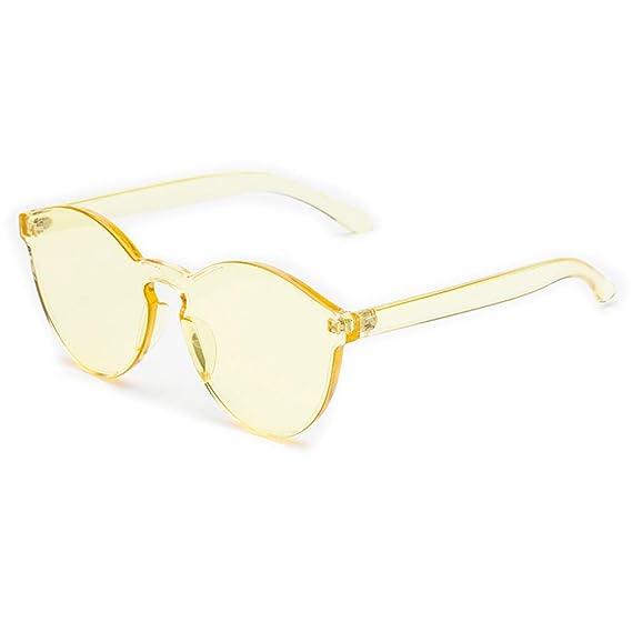 JiXuan Gafas de sol Transparentes Mujeres Hombres Sin ...