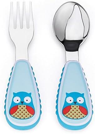 Imagen deSkip Hop Zoo - Cubiertos, diseño owl, color azul